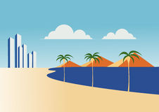 strandhotell Arkivfoton