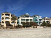 Strandhuizen op Hilton Head-eiland Stock Fotografie