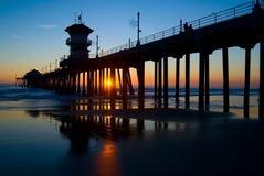 strandhuntington pir Arkivfoton