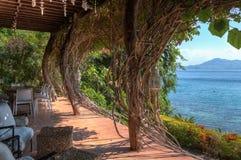 Strandhus i Batangas Filippinerna Arkivbild