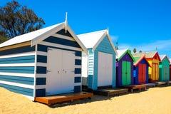 Strandhus i Brighton Beach Royaltyfria Foton