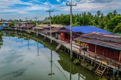 Strandhus i Thailand Arkivfoto