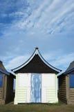 Strandhut in Mablethorpe Royalty-vrije Stock Fotografie