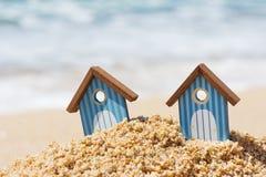 Strandhutten Royalty-vrije Stock Afbeelding