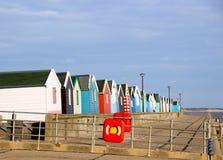 Strandhutten bij southwold Stock Foto