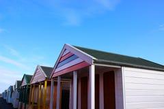 Strandhutten bij southwold Stock Afbeelding