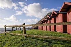 Strandhutten in Branscombe Royalty-vrije Stock Afbeelding