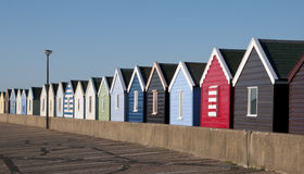 Strandhutten in Southwold, Suffolk, het UK. Royalty-vrije Stock Fotografie