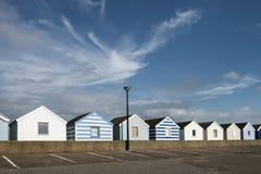 Strandhutten in Southwold, Suffolk, U Stock Afbeeldingen