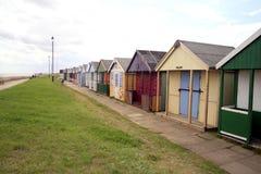 Strandhutten, Sutton op Overzees Stock Afbeeldingen