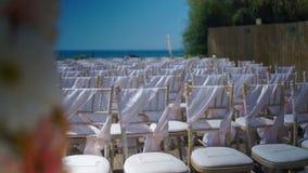Strandhuwelijk stock videobeelden
