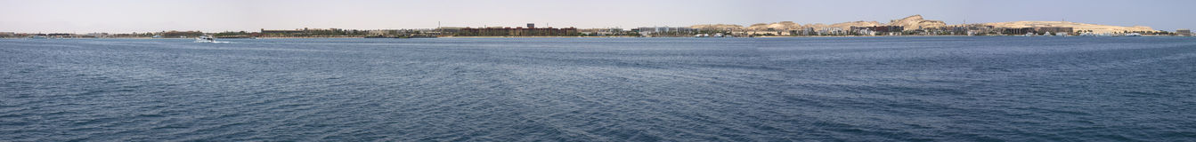Strandinsel in Hurghada Lizenzfreie Stockbilder