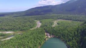 Strandja Berg, Bulgarien Himmlische Landschaft der Landschaft mit einem Gebirgssee in Sibirien nahe dem Baikalsee Warmer See des  stock footage