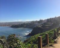 Strandküstenlinienspur stockfoto