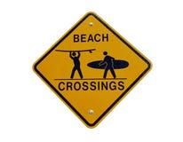 strandKalifornien crossing Fotografering för Bildbyråer