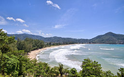 strandkamala phuket thailand Arkivbild