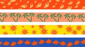 strandkanter royaltyfri illustrationer