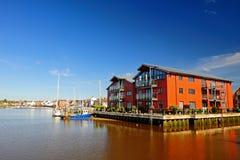Strandkantlägenheter, UK Fotografering för Bildbyråer