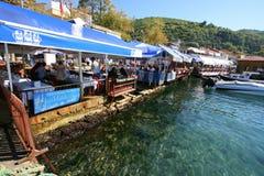 Strandkantrestauranger i Turkiet arkivfoton