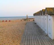 Strandkoja med havssikt i Eastbourne Royaltyfria Foton