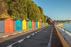 Strandkojor på Dawlish Arkivfoto