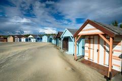 Strandkojor på västra Wittering Royaltyfria Foton