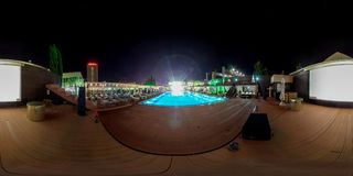Strandkomplex in Sochi Adler-Bezirk Moskau-Strand Stockfotografie