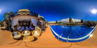 Strandkomplex in Sochi Adler-Bezirk Moskau-Strand Lizenzfreies Stockfoto