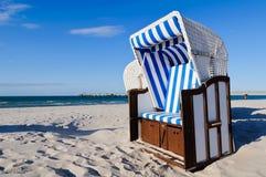 Strandkorb morze bałtyckie Fotografia Stock