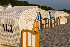 Strandkorbs or beach chairs Royalty Free Stock Photography