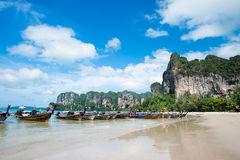 strandkrabi railay thailand Arkivfoto