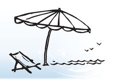 strandkultur stock illustrationer