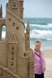 Strandkunst und ein Projektor Lizenzfreies Stockbild