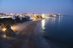 strandkust portugal Arkivfoton