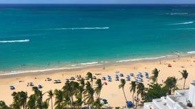 Strandkust in Puerto Rico San juan stock foto's
