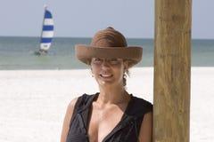 strandkvinna Royaltyfria Bilder