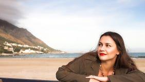 strandkvinna Arkivbilder