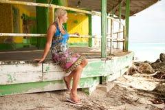 strandkvinnor Royaltyfria Bilder