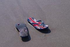 Strandläderremmar Arkivfoto