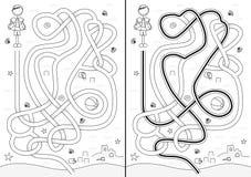 Strandlabyrint royalty-vrije illustratie