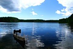 strandladoga lake Arkivfoto