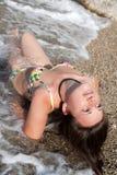 strandlady Royaltyfria Bilder