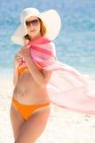 strandlady royaltyfri bild