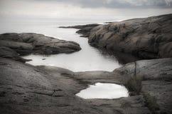 Strandlandschaft mit Wolken Lizenzfreies Stockbild