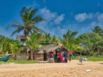 Strandlandschap bij het Hikkaduwa-Strand Stock Foto