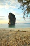 Strandlandskap i Thailand Arkivbild