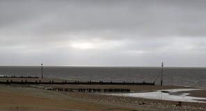 Strandlandskap på Hunstanton Royaltyfri Fotografi
