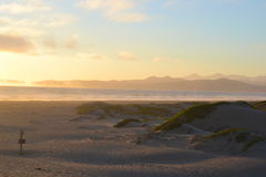 Strandlandskapsolnedgång Arkivfoto