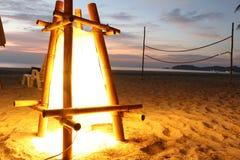 Strandlantaarn bij het Eiland van Thailand Stock Afbeelding