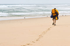 Strandlaufstück Lizenzfreies Stockbild